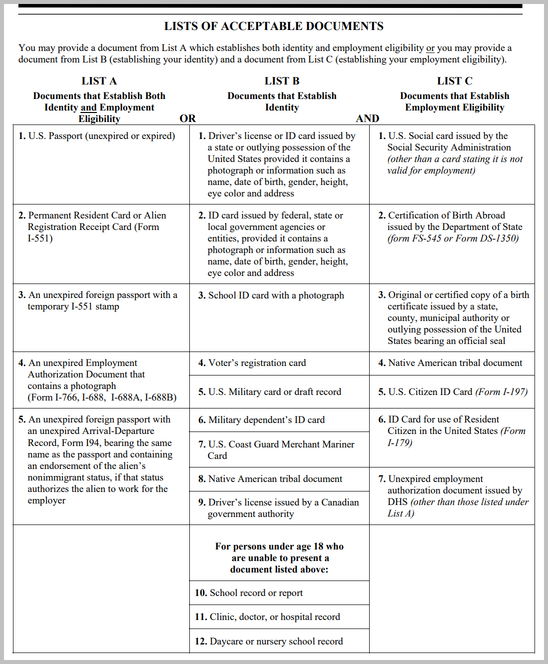 I 9 Form In Spanish 2019 I9 Form Printable